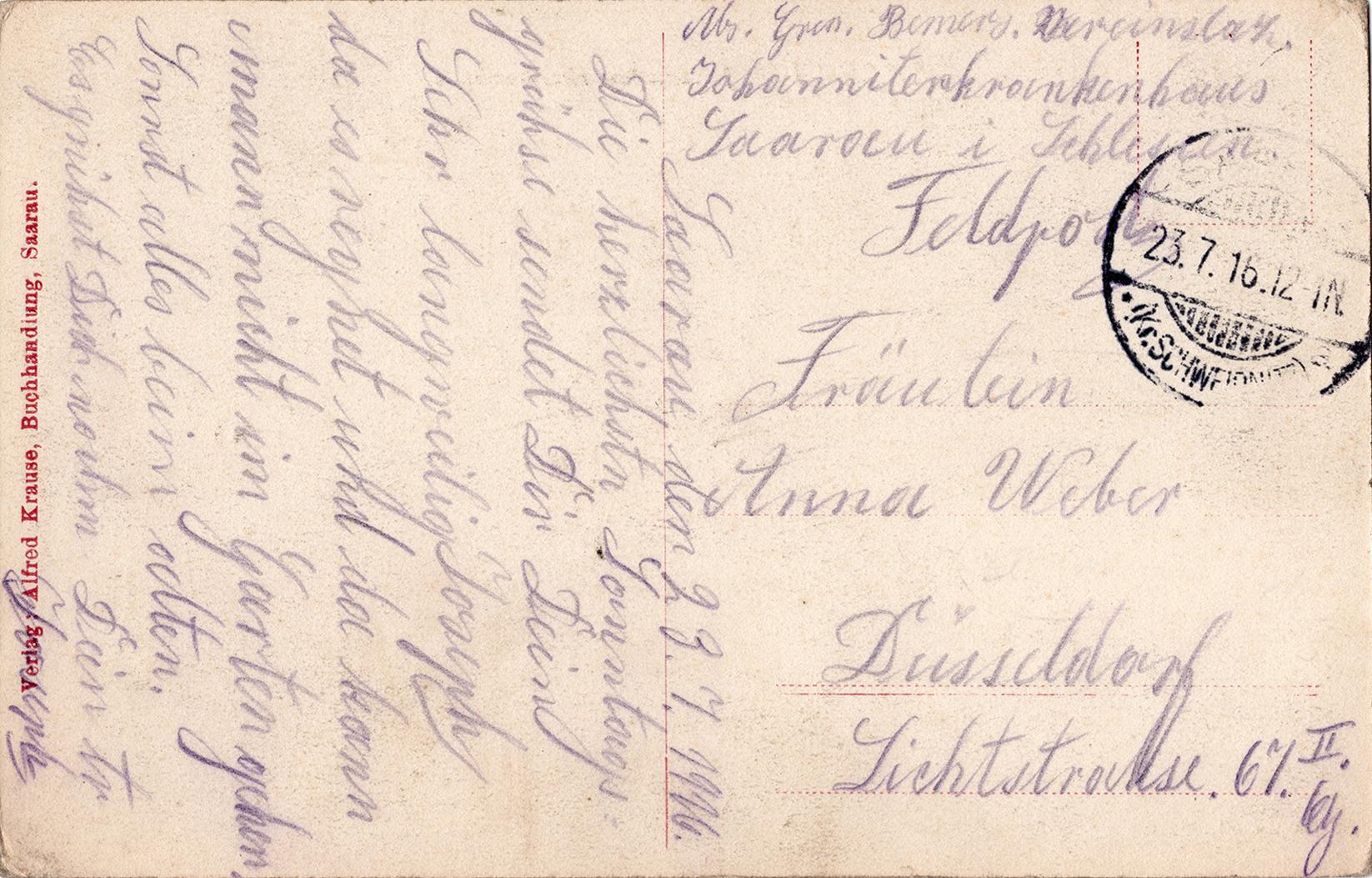 Saarau Johanniter Krakenhaus 1916 (2)