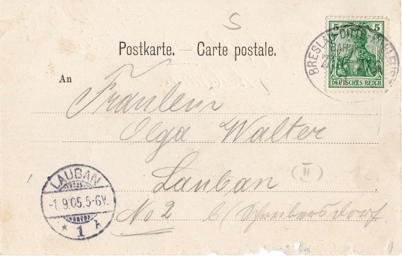 Karta pocztowa Chamottefabrik Panoramen Saarau 1905 (2)