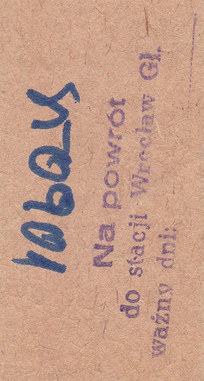 Bilety kartonowe systemu Edmondsona (ze stacją pośrednią w Żarowie) lata 80-90-te XX wieku 2 (2)