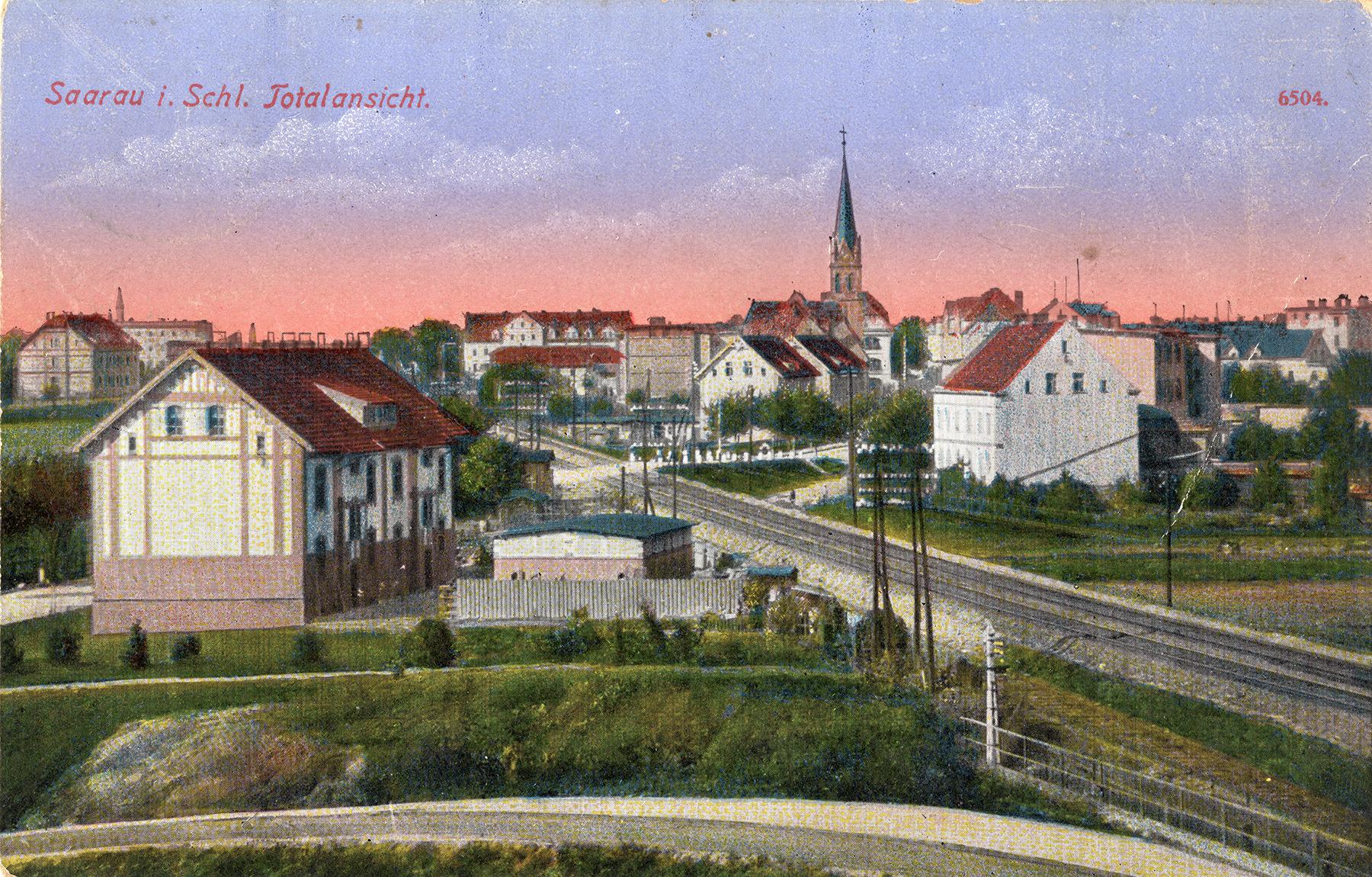 Saarau i. Schl. Totalansicht ok. 1910 (1)