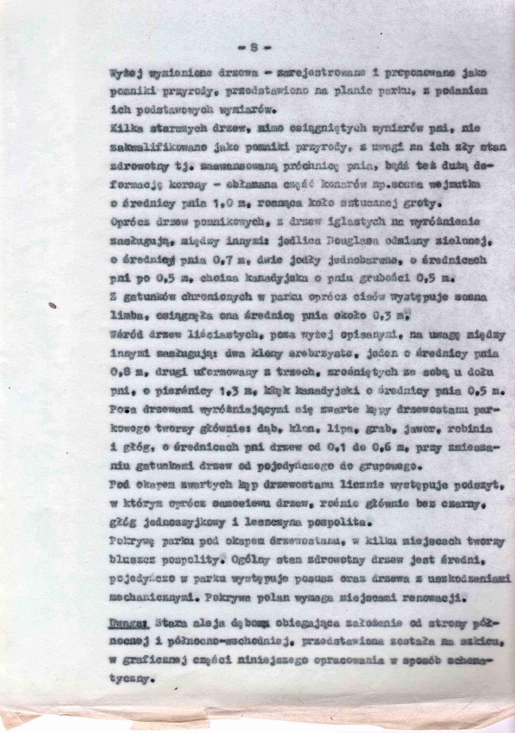 Ewidencja założenia ogrodowo-parkowego 1987 dokument (12)