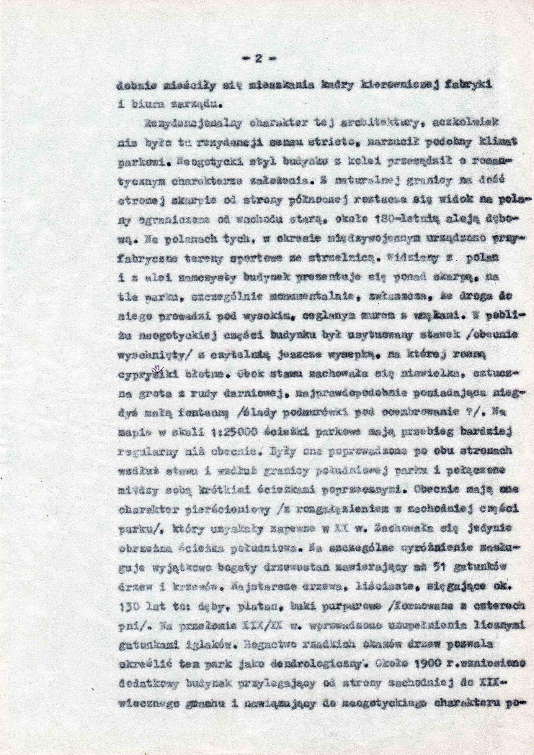 Ewidencja założenia ogrodowo-parkowego 1987 dokument (5)