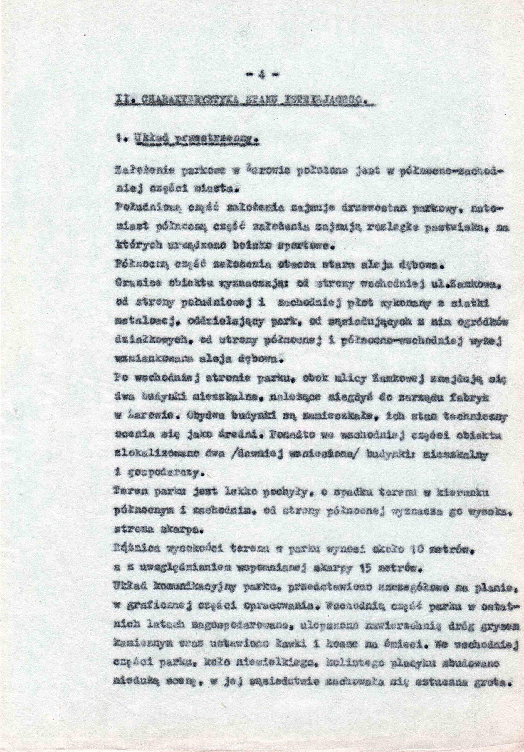 Ewidencja założenia ogrodowo-parkowego 1987 dokument (8)