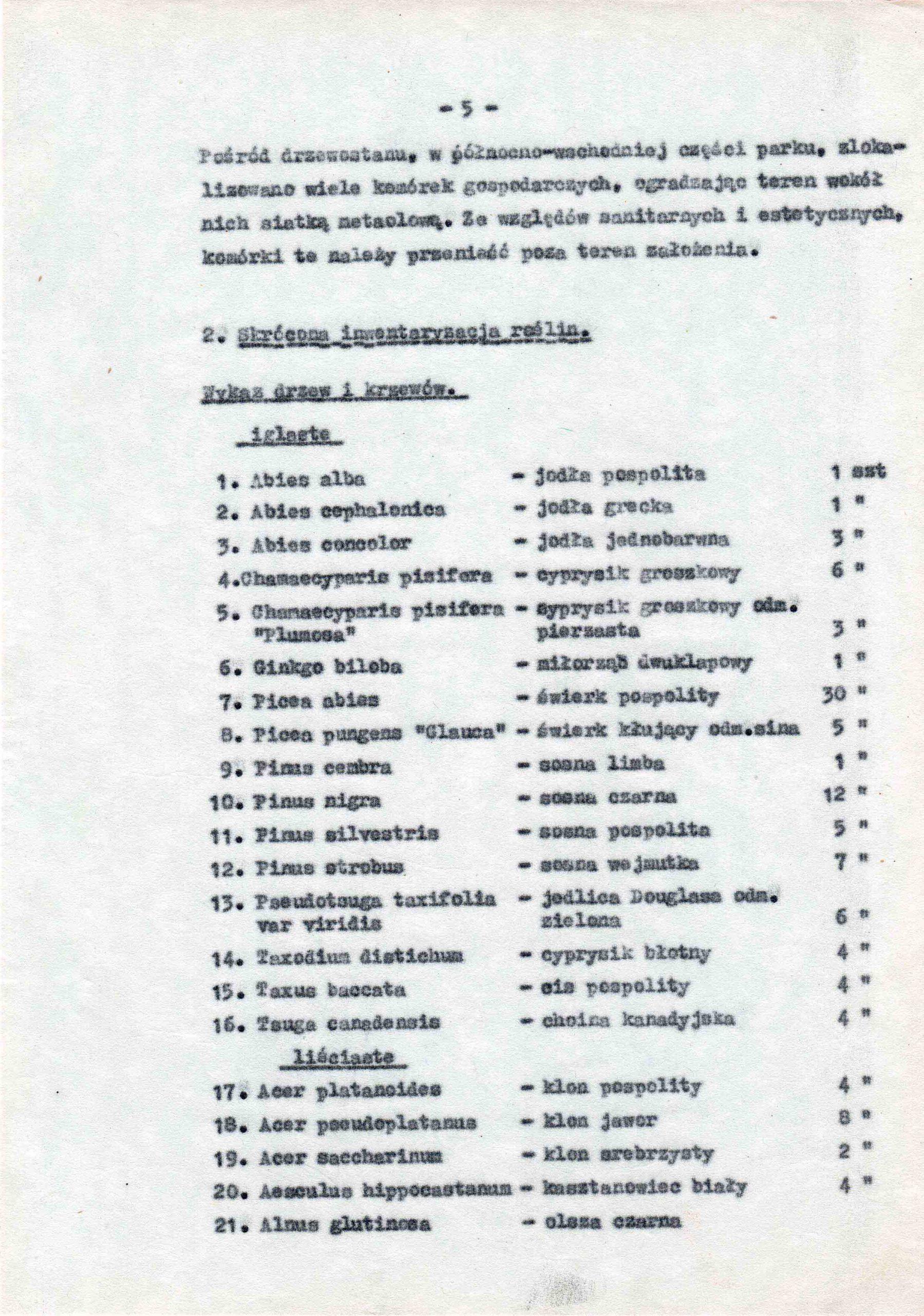 Ewidencja założenia ogrodowo-parkowego 1987 dokument (9)