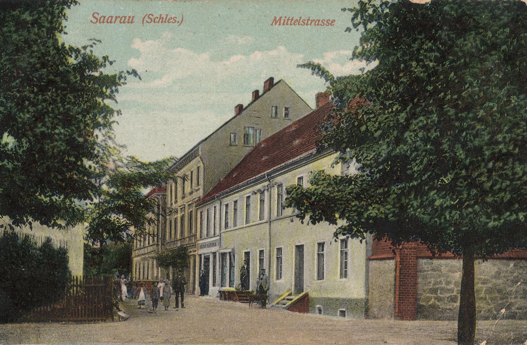 Mittelstraße Saarau 1919)