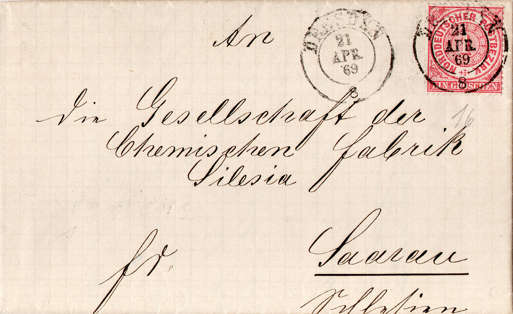 Korespondencja handlowa Zakłady Chemiczne Silesia 1869 (1)